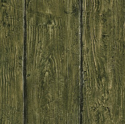 Rodeo Green Outhouse Wood Wall Wallpaper Wallpaper
