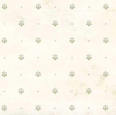 Polka Off-White Pinecone Ditzy Toss Wallpaper Wallpaper