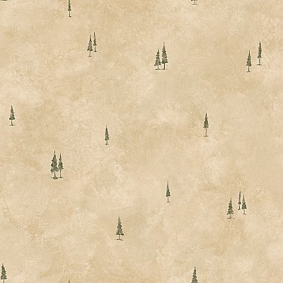 Pinnacle Taupe Tall Tree Toss Wallpaper Wallpaper