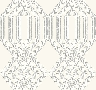 Ettched Lattice Wallpaper