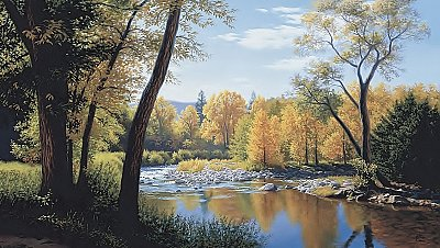 When Summer Turns to Autumn Wall Mural LM7991M