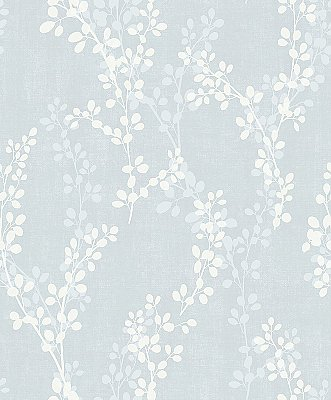 Twig Blue Botanical Wallpaper
