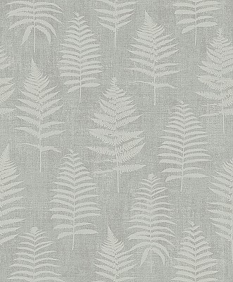 Bracken Dark Grey Fern Wallpaper
