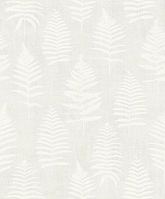 Bracken Light Grey Fern Wallpaper