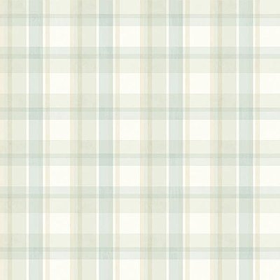 Bennetts Turquoise Sunday Plaid Wallpaper
