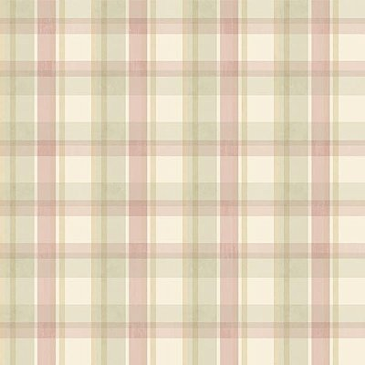 Bennetts Pink Sunday Plaid Wallpaper