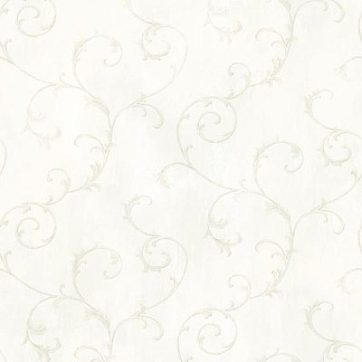 Mimosa Ivory Scroll Wallpaper