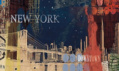 New York Streets Mural MP4855M by York