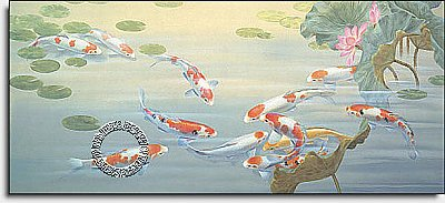 Peaceful Pond Mural PR4031