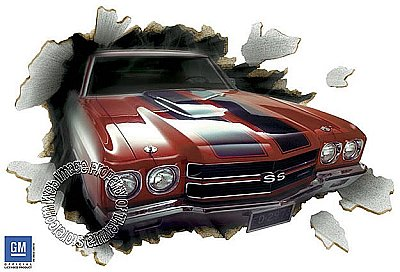 1970 Chevelle 396 Through the Wall - Red 121946