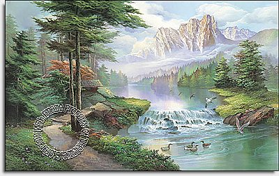 Misty Waters Mural 1618 DS6018