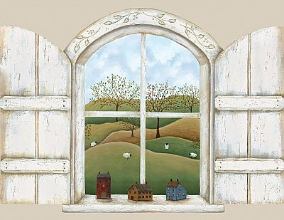 A Homestead Window Mural Hot Deal