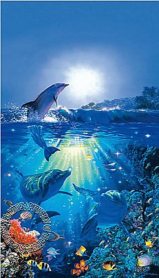 Dolphins In The Sun Mural 513