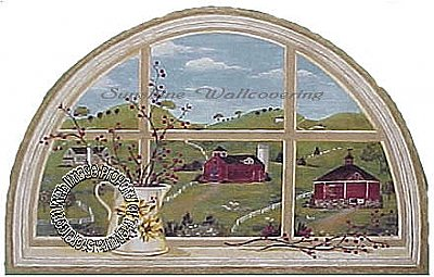 Country Window Mural Hot Deal