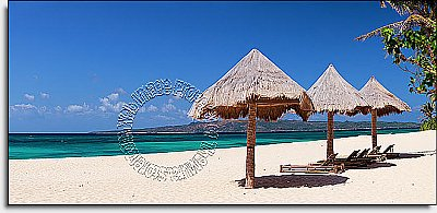 Beach Chairs Panoramic Wall Mural