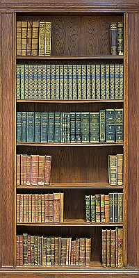 Bookcase Mural One-piece Peel & Stick Canvas Wall Mural