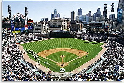 Detroit Tigers/Comerica Park Mural MSMLB-DT-CDS12005S