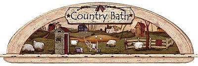Country Bath Mural Hot Deal