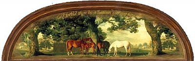 God Forbid Heavan Without Horses Arch Accent Mural
