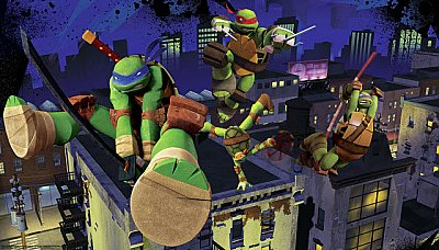 TEENAGE MUTANT NINJA TURTLES CITYSCAPE XL MURAL