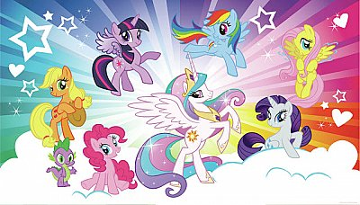 MY LITTLE PONY CLOUD BURST MURAL