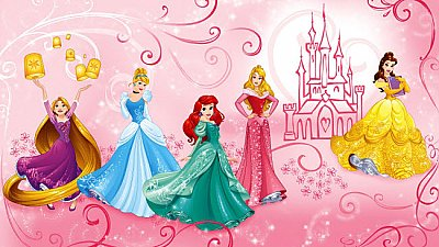 DISNEY PRINCESS ENCHANTED MURAL
