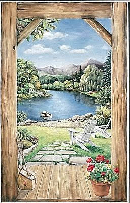 Cabin Doorway View Mural LM8989MMP