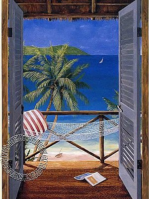 Tropical Door OA4683M Mural