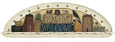 Primitive Welcome Friends Arch Mural Hot Deal