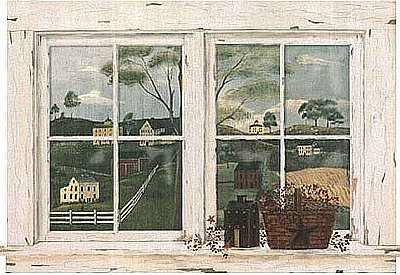 Country Scenic Window Mural RF3673M