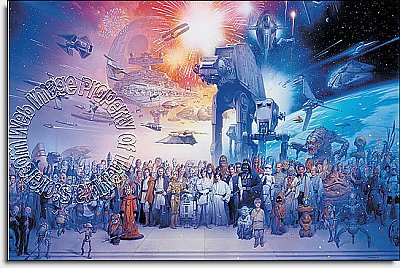 Star Wars Saga Wall Mural by Roommates