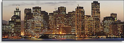 San Francisco Sunset One-piece Peel & Stick Canvas Wall Mural