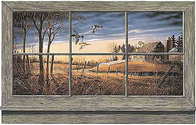 Rustic Window Mural WD4302M