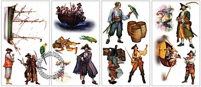 Pirates! Peel & Stick Applique
