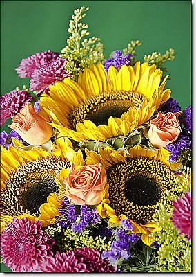 Autumn Bouquet Peel & Stick Canvas Wall Mural