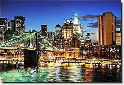 Brooklyn Bridge (Color) Peel & Stick Canvas Wall Mural