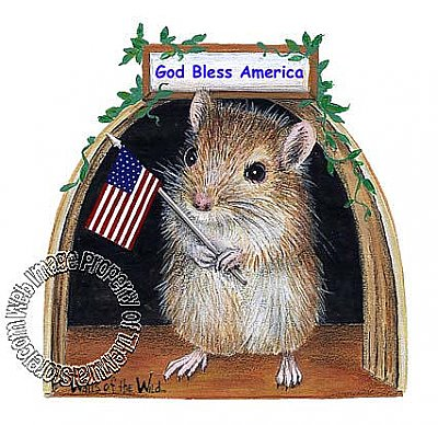 Patriot Mouse Peel & Stick Applique 160120