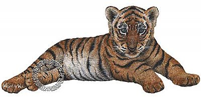 Tiger Cub Peel & Stick Applique 200907