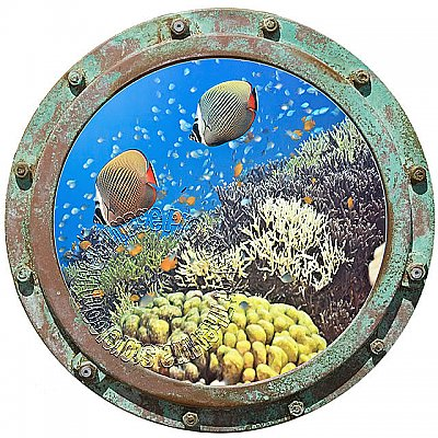 Undersea Porthole #1 Peel & Stick Canvas Wall Mural