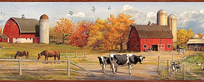 Jethro Red American Farmer Portrait Border