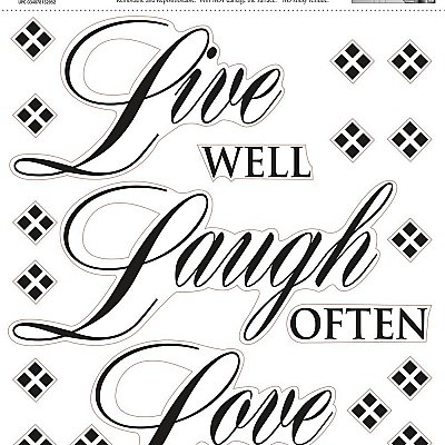 LIVE WELL-LOVE OFTEN-LOVE MUCH PEEL & STICK SINGLE SHEET