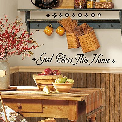 GOD BLESS THIS HOME PEEL & STICK SINGLE SHEET