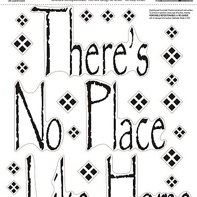 THERE IS NO PLACE LIKE HOME PEEL & STICK SINGLE SHEET