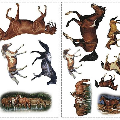 WILD HORSES PEEL & STICK WALL DECALS