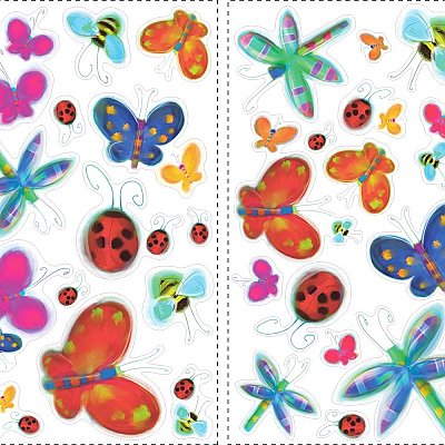 JELLY BUGS PEEL & STICK WALL DECALS