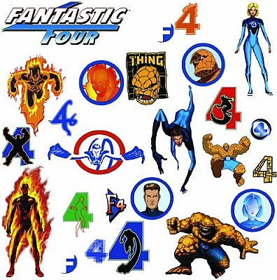 FANTASTIC FOUR PEEL & STICK WALL DECALS