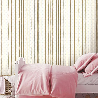 ALL MIXED UP PINK/GOLD PEEL & STICK WALLPAPER