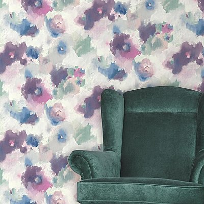 IMPRESSIONIST FLORAL PEEL & STICK WALLPAPER