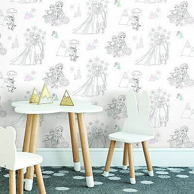 DISNEY FROZEN PEEL & STICK WALLPAPER