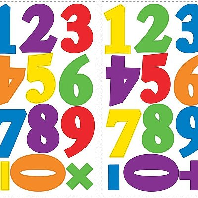 NUMBERS PRIMARY PEEL & STICK WALL DECALS